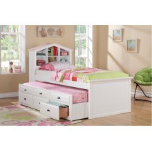 F9223 / Cat.19.p100- TWIN BED W/TRUNDLE WHT