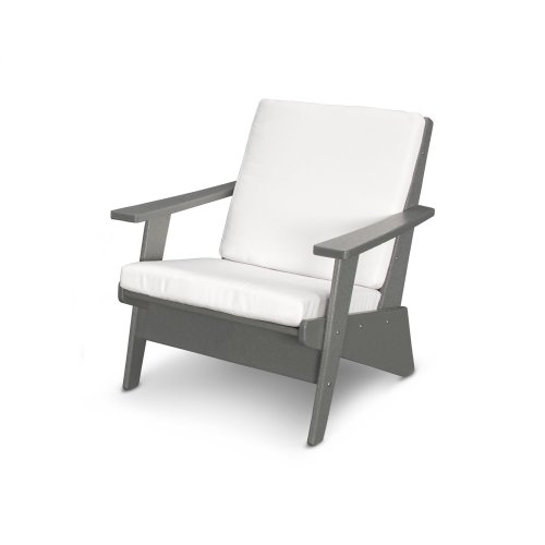 Slate Grey & Natural Riviera Modern Lounge Chair