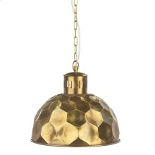 Gold Honeycomb Pendant. 60W Max. Hard Wire Only.