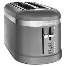 4 Slice Long Slot Toaster with High-Lift Lever - Matte Charcoal Grey