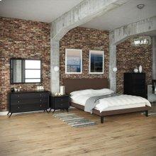 Bethany 5 Piece Queen Bedroom Set in Black Brown