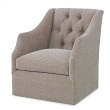 Claudette Swivel Chair - Tufted Back
