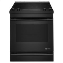 "Black Floating Glass 30"" Electric Range"