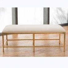 Quad Pod Bench w/Muslin Cushion-Gold Leaf