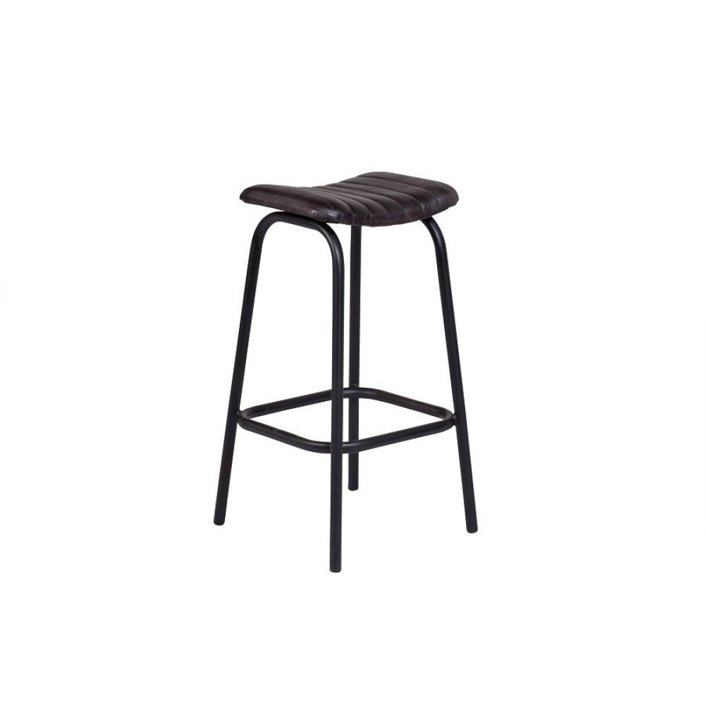 Oscar Gray Leather Barstool, 4295-1