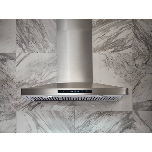 """36"""" Chef Collection Wall Mount Hood in Stainless Steel"""