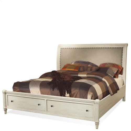 Huntleigh - Queen Storage Footboard - Vintage White Finish