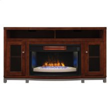 Wesleyan TV Stand with Electric Fireplace