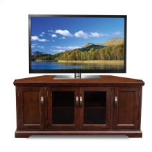"Chocolate Cherry 60"" Corner TV Console #81386"