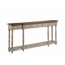 Simpson 4-drawer Console In Grey