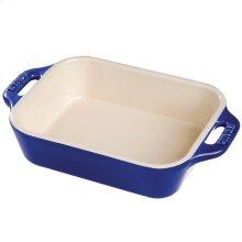 "Staub Ceramics 10.5x7.5"" Rectangular Baking Dish, Dark Blue"