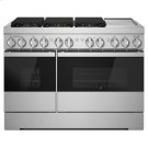 "NOIR 48"" Dual-Fuel Professional Range with Chrome-Infused Griddle Product Image"