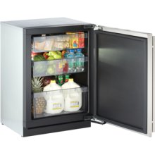 "Stainless Right-hand 3000 Series / 24"" Solid Door Refrigerator Model / Digitally controlled single-zone convection cooling system"