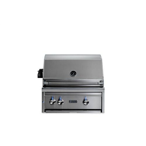 "27"" Lynx Professional Built In Grill with 2 Ceramic Burners and Rotisserie, NG"