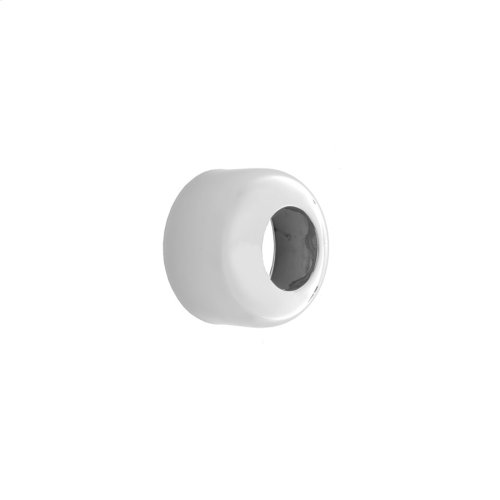 "Satin Chrome - Round Box High Pattern Escutcheon for 1 1/2"" P Traps"