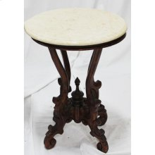 Victorian Round Table with Marble Top