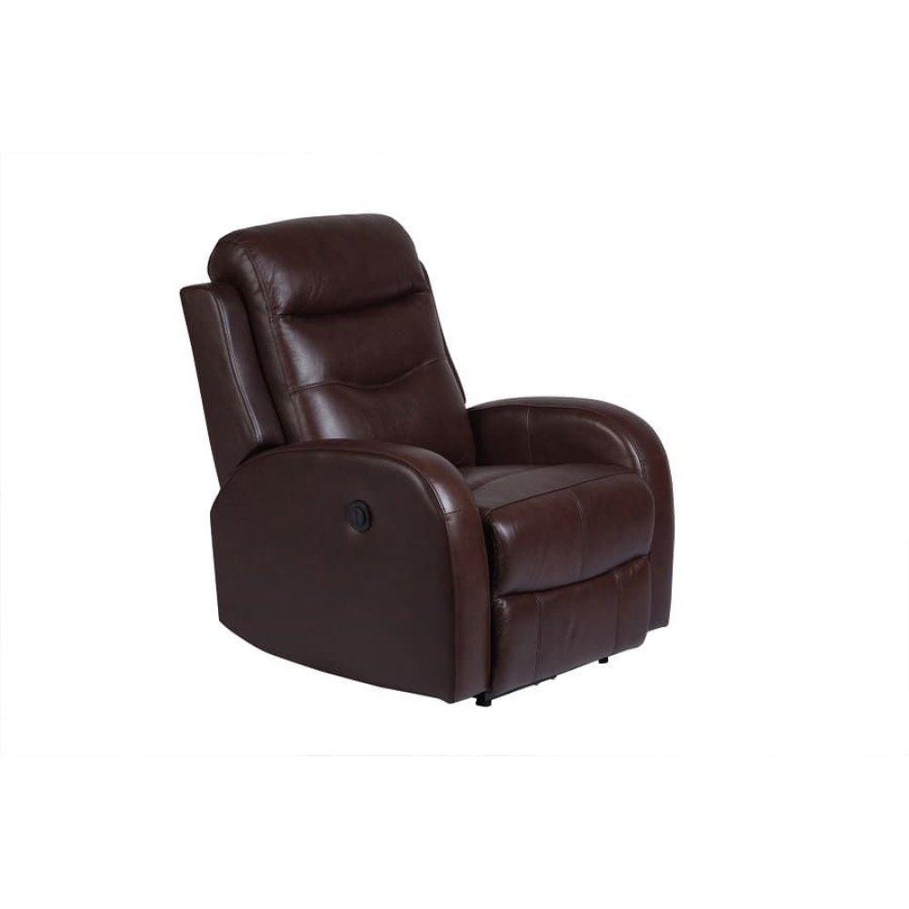 Jasper Cognac Leather Recliner, MP7793