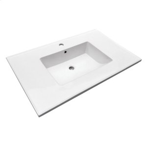 "Hartley 37"" Vanity Top - Single Hole Product Image"
