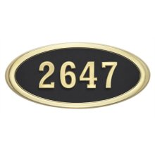 Large Oval HouseMark ® Address Plaques
