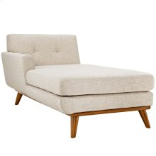 Engage Left-Facing Upholstered Fabric Chaise in Beige