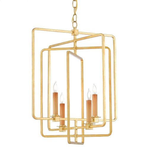 Metro Gold Square Chandelier