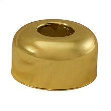 "Polished Brass Escutcheon 1-1/2"" OD Tubular Box Pattern"