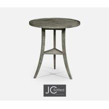 Antique Dark Grey Round Lamp Table