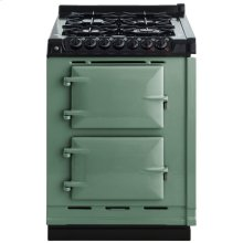 "AGA Module 24"" Electric/Natural Gas Pistachio with Stainless Steel trim"