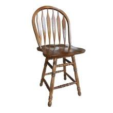 "24"" Colonial Windsor Bowback Barstool"