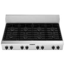 """8 Burners Porcelain-on-Steel Cooktop Architect® Series Gas 48"""" Width"""