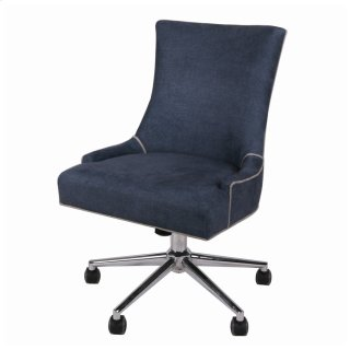 Charlotte Fabric Office Chair, Denim Slate