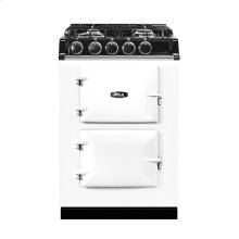 """AGA City 24"""" Electric/Natural Gas White with Stainless Steel trim"""