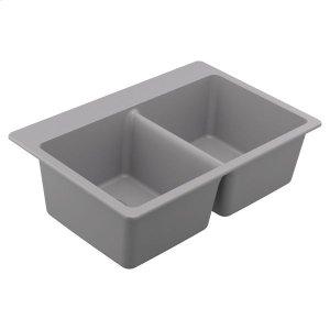 Granite Series granite granite double bowl undermount or drop in sink Product Image