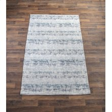 Blue Tonal Antique Wash 5' x 8' Jacquard Rug
