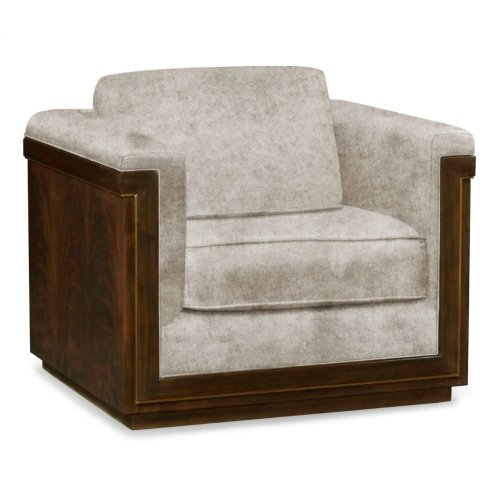 36'' Antique Mahogany Brown High Lustre Sofa Chair, Upholstered in Calico Velvet