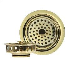 Polished Brass 3.5 Inch Kitchen Drain