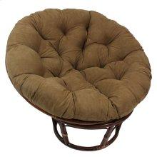 Bali 42-inch Rattan Papasan Chair with Microsuede Fabric Cushion - Walnut/Camel
