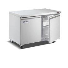 Two Door, Stainless Steel Solid Door Commercial Undercounter Freezer