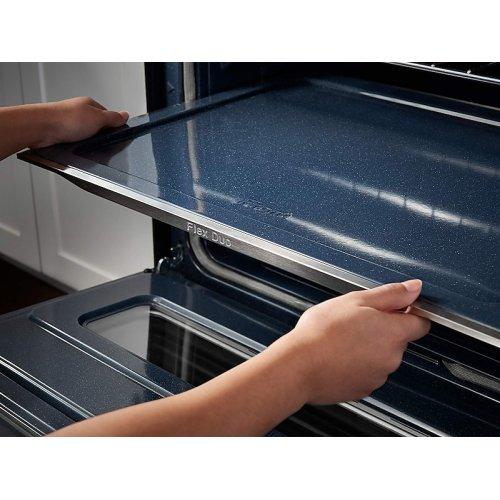 5.8 cu. ft. Freestanding Gas Range with Flex Duo & Dual Door in Black Stainless Steel