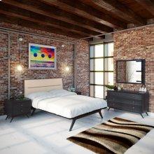 Addison 5 Piece Queen Bedroom Set in Black Beige