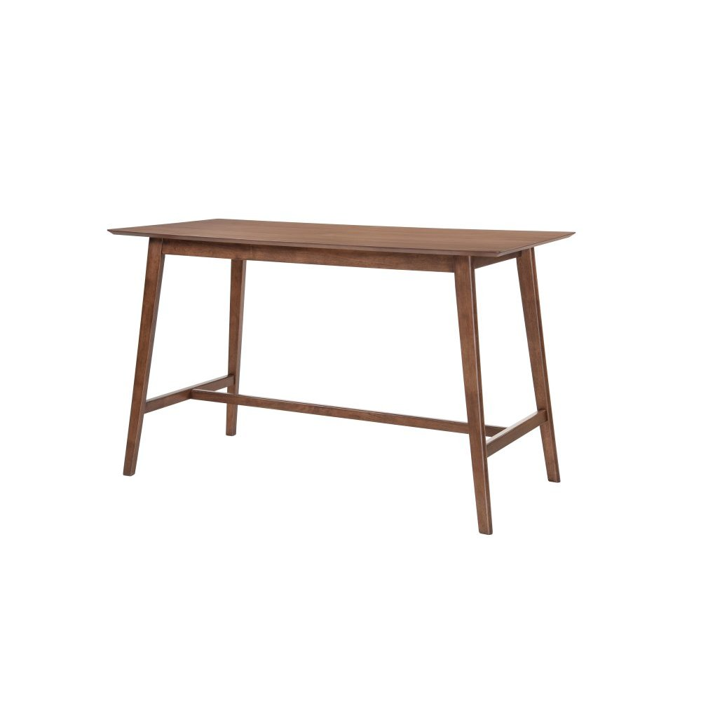 "Emerald Home Simplicity Rectangular Gathering Table 60x28x36"" Walnut D550-14"