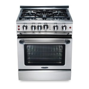 """30"""" four burner manual-clean gas range + convection oven - NG Product Image"""