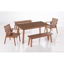Castries Acacia FSC KD Deep Seating Love Seat w/ Sunbrella Cast Ash cushion