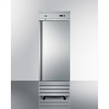 Commercially Approved Frost-free Reach-in Freezer In Complete Stainless Steel; Replaces Scfi235