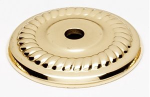 Rope Backplate A813-14P - Unlacquered Brass Product Image