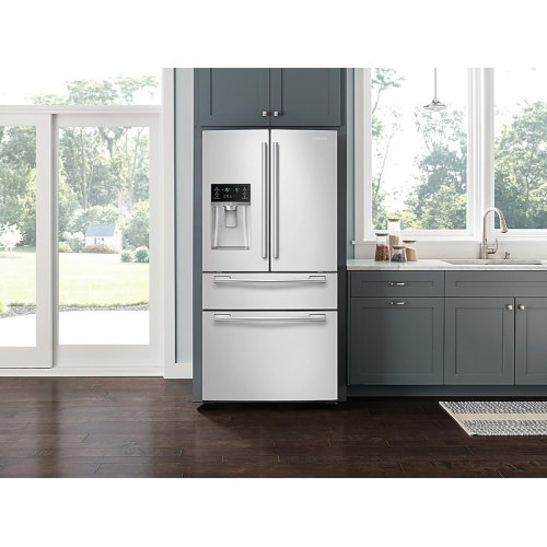 25 cu. ft. 4-Door French Door Refrigerator in White