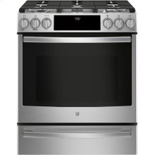 """GE Profile™ 30"""" Slide-In Front-Control Gas Range (OPEN BOX)"""