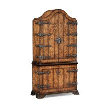 Spanish Style Crotch Walnut Drinks Cabinet