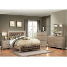 1008 Hollywood Champagne Queen Bed with Dresser & Mirror Product Image