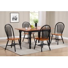 DLU-TLB3660-820-BCH5PC  5 Piece Butterfly Leaf Dining Set  Arrowback Chairs
